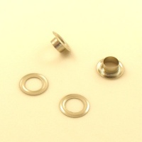 9mm Nickel Plated Brass Eyelets / Grommets For Leather