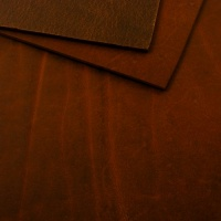 2.8-3mm TO CLEAR Chestnut Matt Rustic Cowhide A4