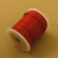 HALF PRICE Red 2mm Round Leather Lacing 25 Metres