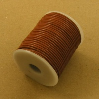 Tan 2mm Round Leather Lacing 25 Metres