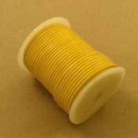 Yellow 2mm Round Leather Lacing 25 Metres