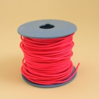 Bright Pink 2mm Round Leather Lacing 25 Metres