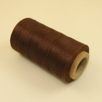 0.6mm Waxed & Braided Polyester Thread Chestnut Brown 300 Metres