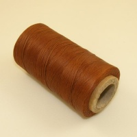 0.6mm Waxed & Braided Polyester Thread Mid Tan