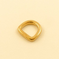 16mm 5/8'' Cast Brass Rounded Heavy D Ring
