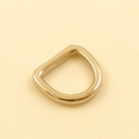 16mm 5/8'' Nickel Plated Rounded Heavy D Ring