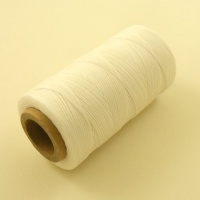 0.6mm Waxed & Braided Polyester Thread White 300m