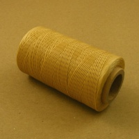 0.6mm Waxed & Braided Polyester Thread Natural Beige 300 Metres