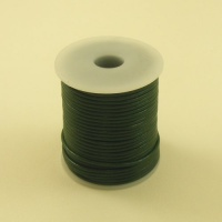 HALF PRICE Racing Green 2mm Round Leather Lacing 25 Metres