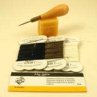 Simple Leather Stitching Kit - Linen Threads