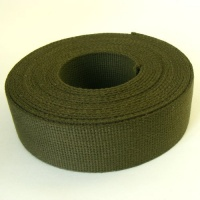 SALE 38mm Heavy Cotton Webbing Forest Green 2 Metres