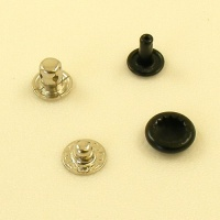 10mm Black Press Studs