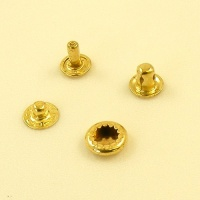 10mm Brass Plated Press Studs