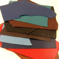 1.2-1.4mm Calf Leather Pieces Mixed Colours 350g Pack