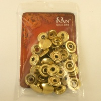 15mm Brass Plated Press Studs