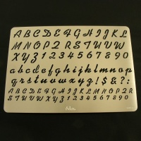 Leathercraft Stencil Script Letters & Numbers
