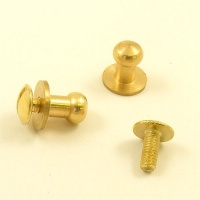 Medium Sam Browne Stud - Brass - Pack of 2