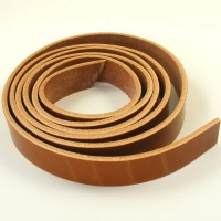 Mid Tan 4mm HEAVY Saddlery Leather Strips