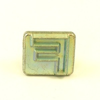 20mm Block Letter F Embossing Stamp