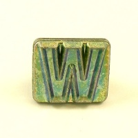 20mm Block Letter W Embossing Stamp