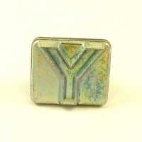 20mm Block Letter Y Embossing Stamp