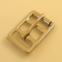 Looped Barred Girth Buckle Nickel Plated