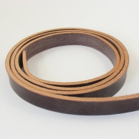 Nut Brown 4mm HEAVY Saddlery Leather Strips