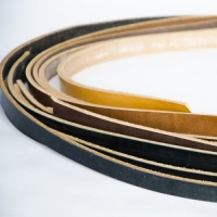 12-16mm Width Black Brown & Tan Leather Strips 500g Pack