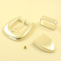 Silver Plated 3 Piece Buckle Set 25mm (1'')