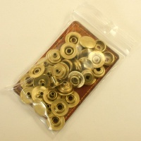 13mm Brass Plated Press Studs