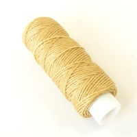 0.6mm Beige Synthetic Waxed Thread
