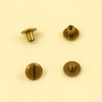 5mm Small Joining Screws - Antiqued Brass - 2pk