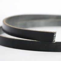 Black 3.5-4mm Saddlery Leather Strips