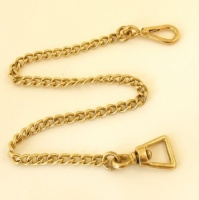 Brass Lead Chain 59cm Length 19mm Eye
