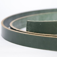 Dark Green 4mm Saddlery Leather Strips