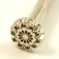 E385 Leather Embossing Stamp Ethnic Flower Design
