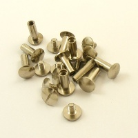13mm Leather Joining Screw - Nickel Plated - Pack of 10