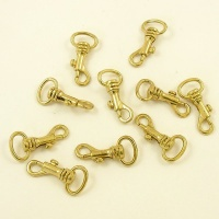 Mini Strap Clip 12mm Eye Gilt Finish