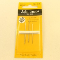 Leather Hand Sewing Needles (Glovers) John James 3Pk