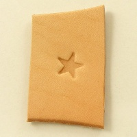 053 Leather Stamp Small Flat Star Shape