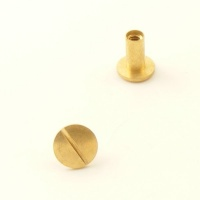 10mm Leather Joining Screw - Brass - Pack of 10