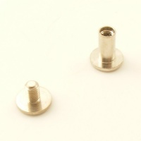 10mm Leather Joining Screw - Nickel Plated - Pack of 10