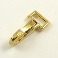 Mini Snap Clip Brass Plated 12mm Eye