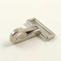Mini Snap Clip Nickel Plated 25mm Eye