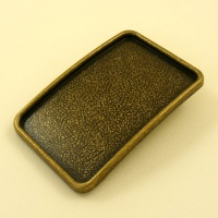 Recessed Belt Buckle Blank Antiqued Brass Finish 1 1/2 inch 38mm