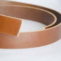 Rich Tan 4mm HEAVY Saddlery Leather Strips