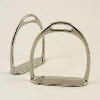 Small Nickel Silver Rocking Horse Stirrups