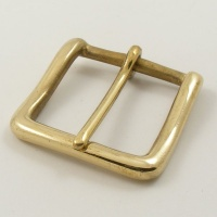 Solid Brass West End Belt Buckle 1 1/2  (38mm)