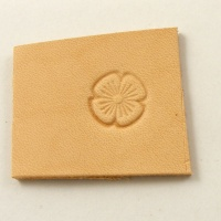 W531 Leather Embossing Stamp Small Concave Flower