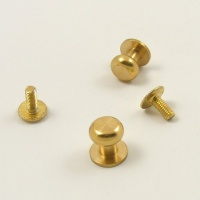 Wide Sam Browne Stud - Brass - Pack of 2